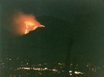 Fire over Tucson
